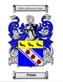 The Polain family crest