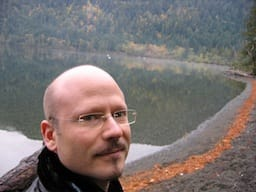 Me, by a lake, in Canada.